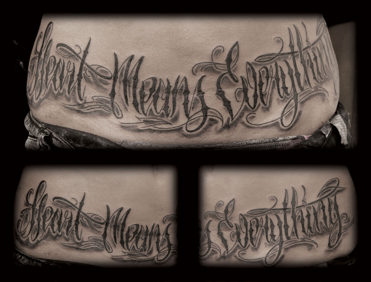 Gallery For gt Gangster Writing Tattoos
