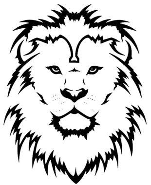 Conic Lion Tattoo Picture