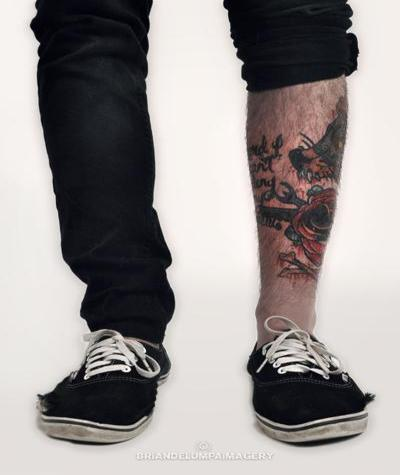 Cool Leg Tattoo For Men