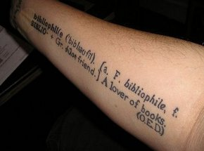Cool Literary Tattoo On Forearm