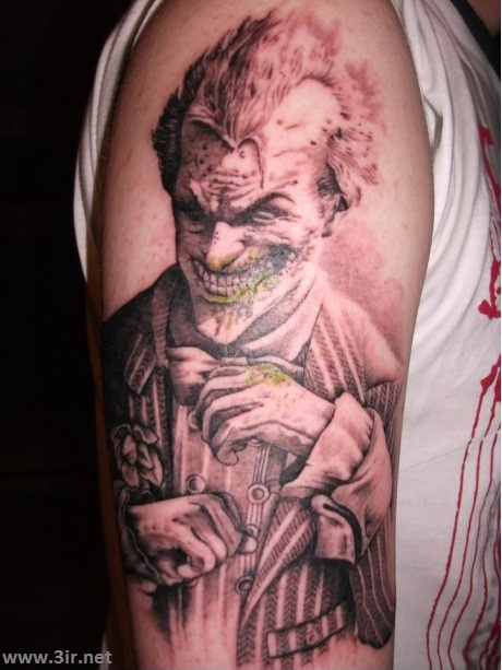 Crazy Joker Tattoo On Arm
