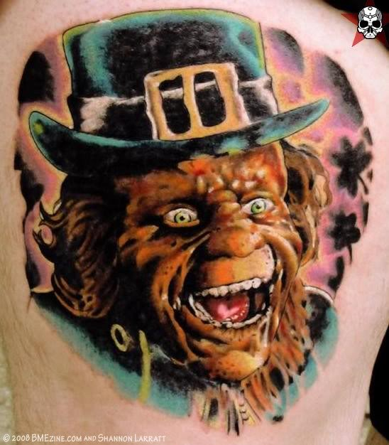 Crazy Leprechaun Tattoo