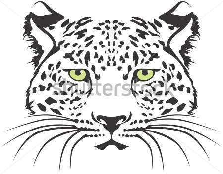 Creative Leopard Head Tattoo Design