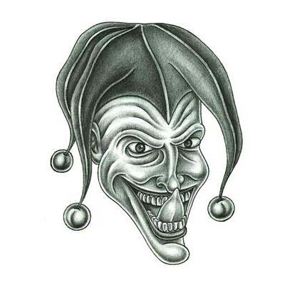 Creepy Joker Tattoo Design