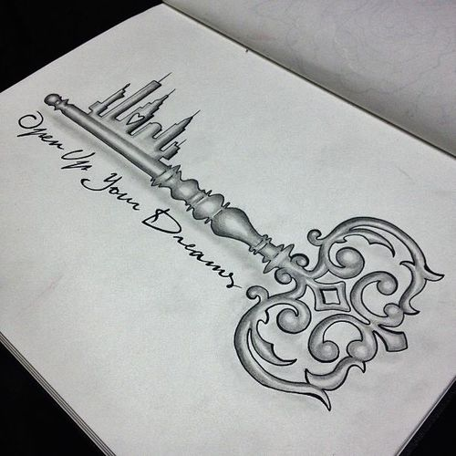 Dreams Key Tattoo Design