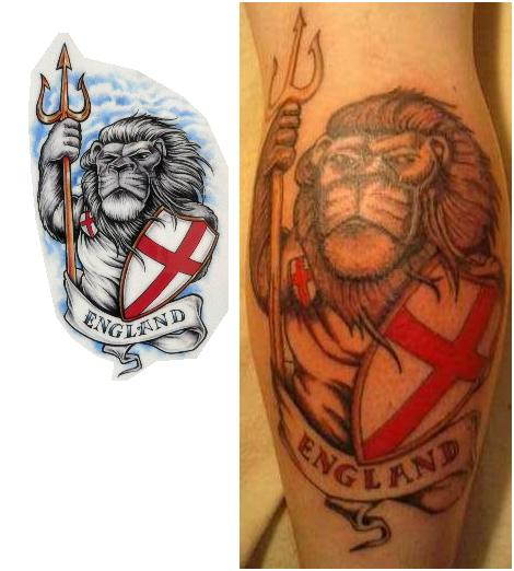 English Lion Tattoo Designs