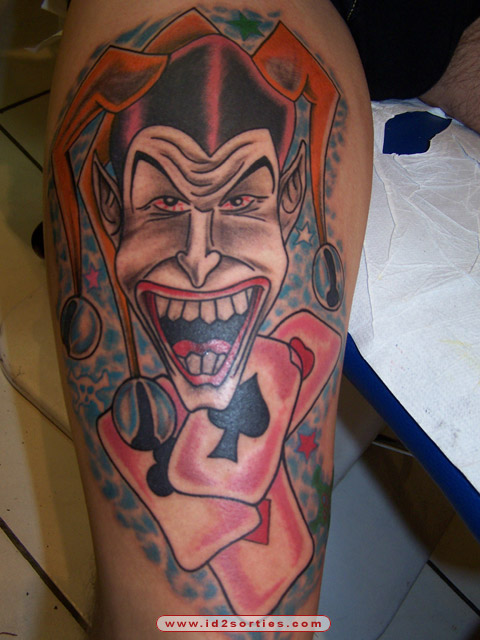 Evil Joker Tattoo Photo