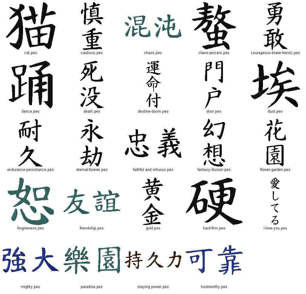 Free Japanese Kanji Symbols Tattoo Design