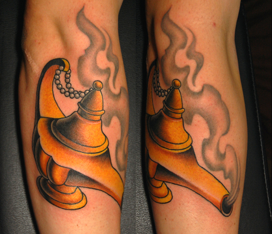 Genie Lamp Tattoo