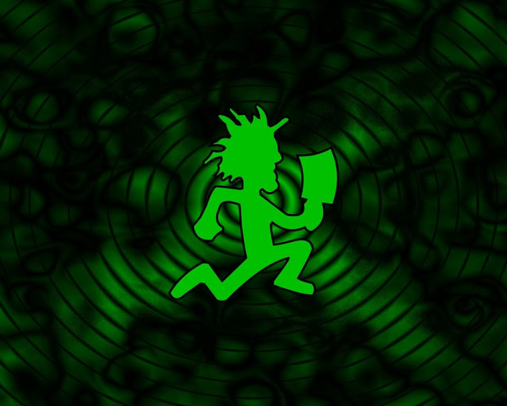 Green Juggalo Hatchet Running Tattoo Design