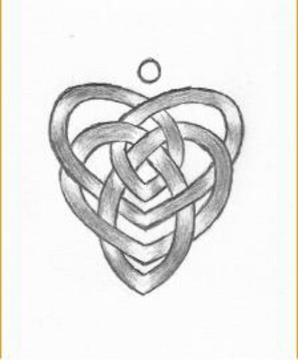 Grey Motherhood Knot Tattoo Design
