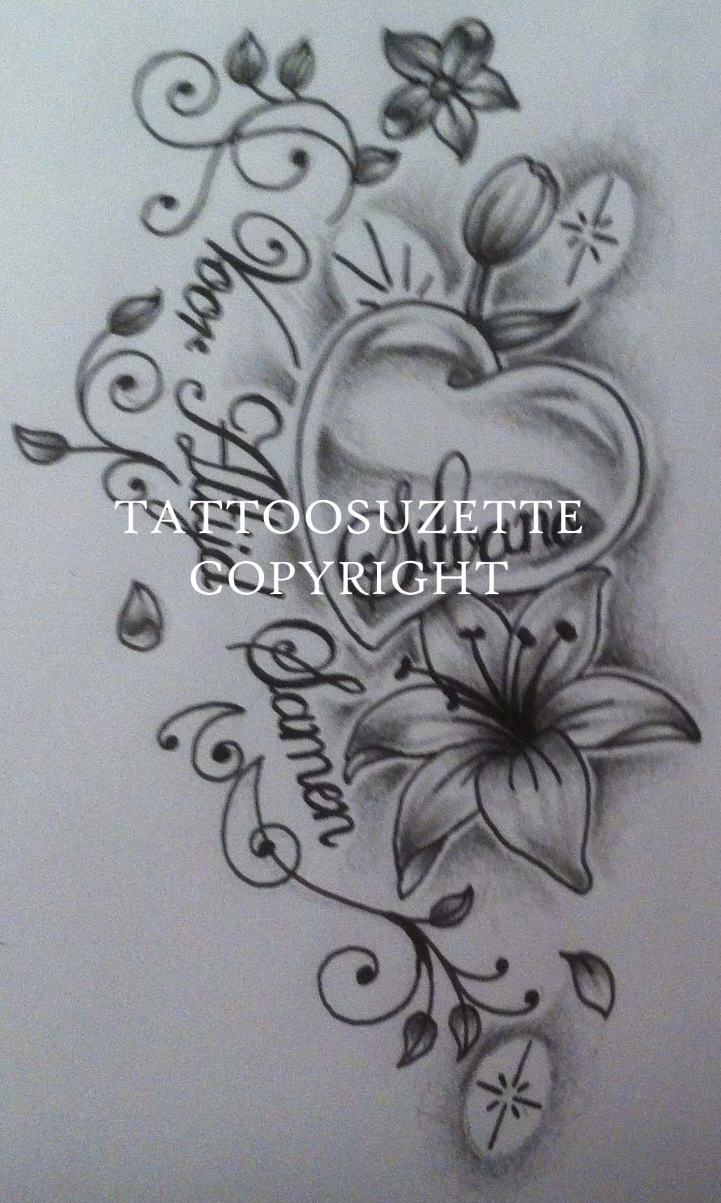 Outline mexican skull tattoo on biceps mexican catrina skull tattoo - Lily Tattoos Designs And Ideas Page 15