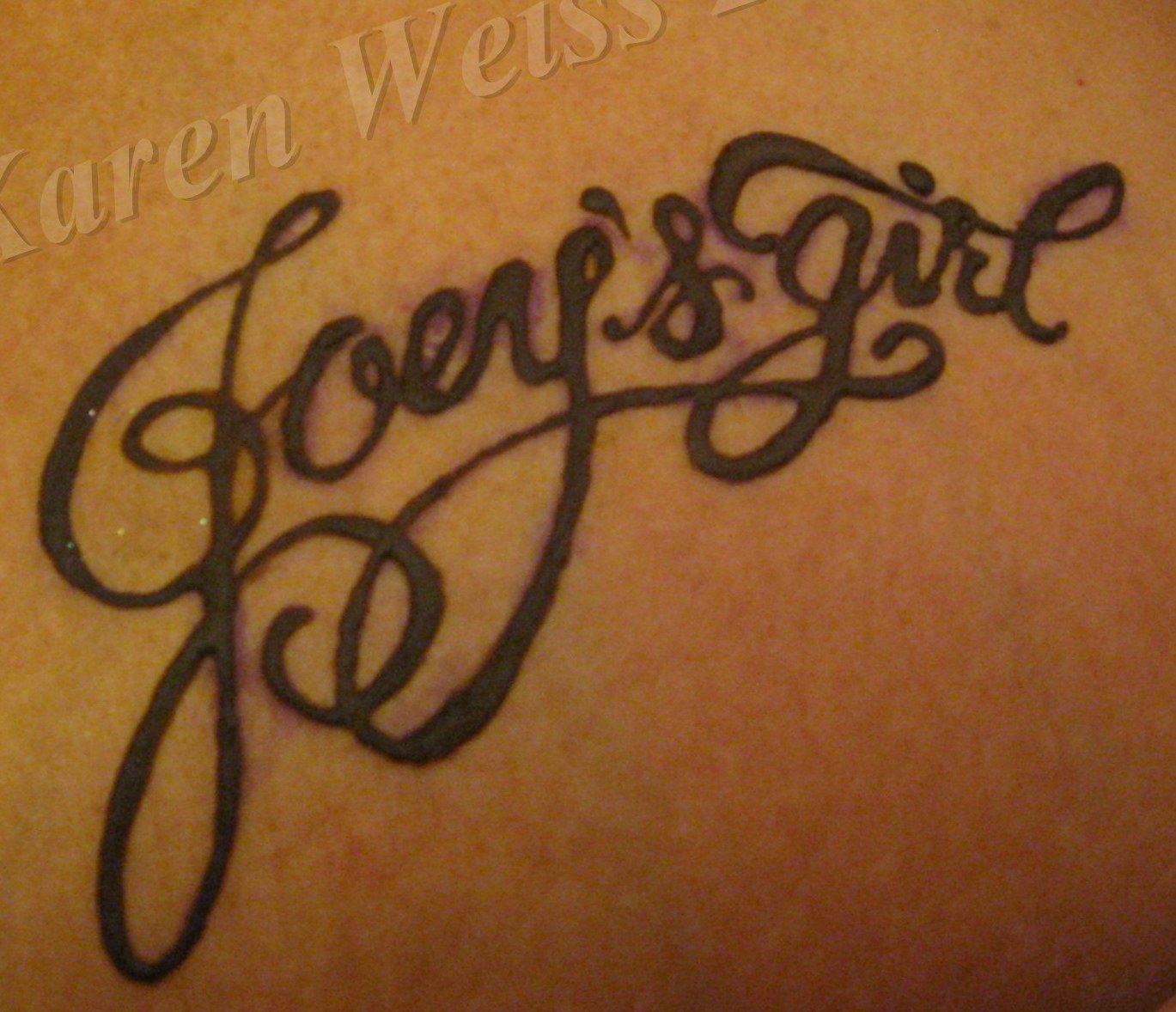 Henna Joey's Girl Lettering Tattoo Design