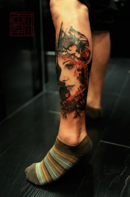 Hong Kong Leg Tattoo Design