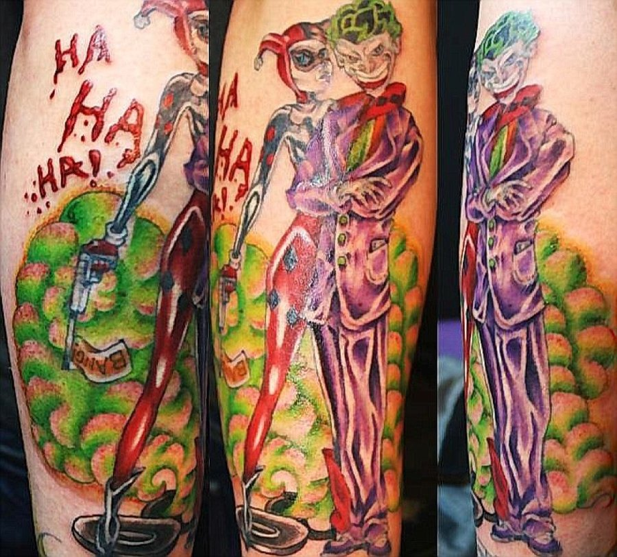 Joker And Harley Quinn Tattoo Design