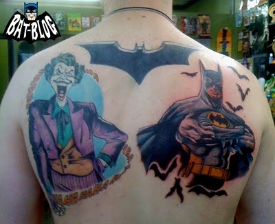 Joker Batman Logo Symbol Tattoo On Back