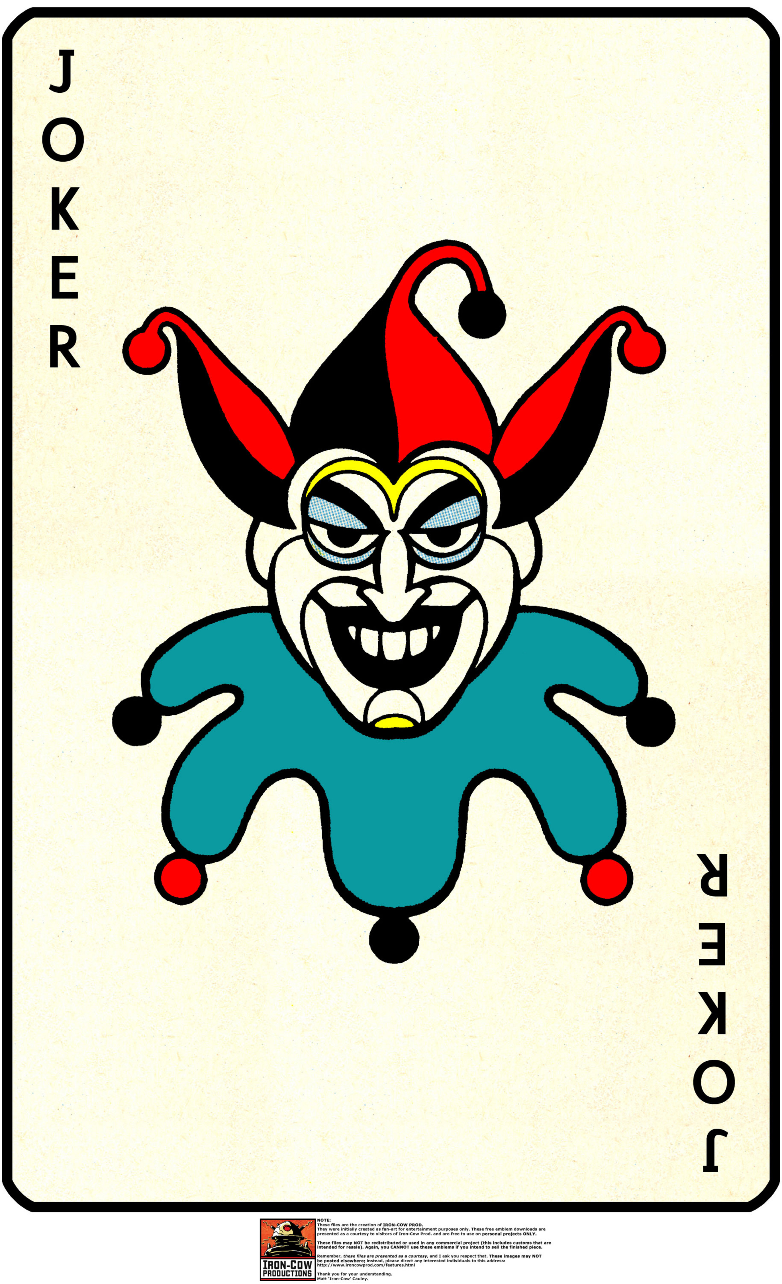 Joker Card Tattoo Flash