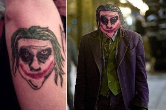 Joker Face Tattoo On Arm