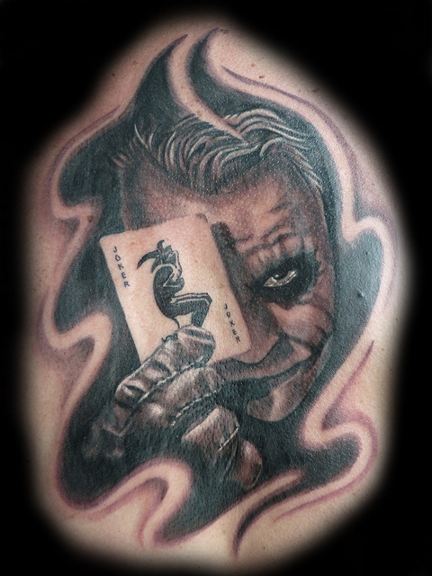 Joker n Joker Card Tattoo Design