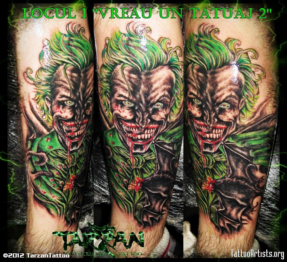 Joker Tarzan Tattoo Design