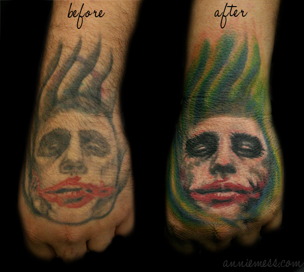 Joker Tattoo Stages