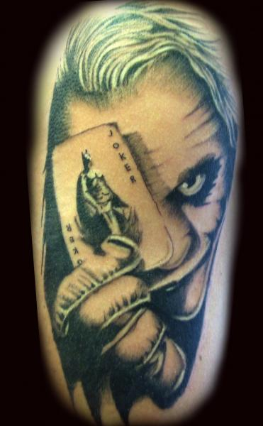 Batman Joker Card Tattoo Joker With Batman Card Tattoo