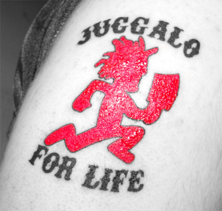Juggalo For Life Hatchet Man Tattoo Design
