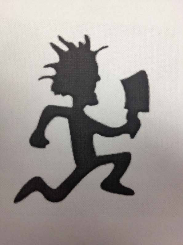 Juggalo Hatchet Man Running Tattoo Design
