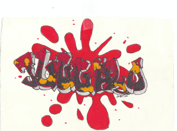 Juggalo Paint Splat Tattoo Design