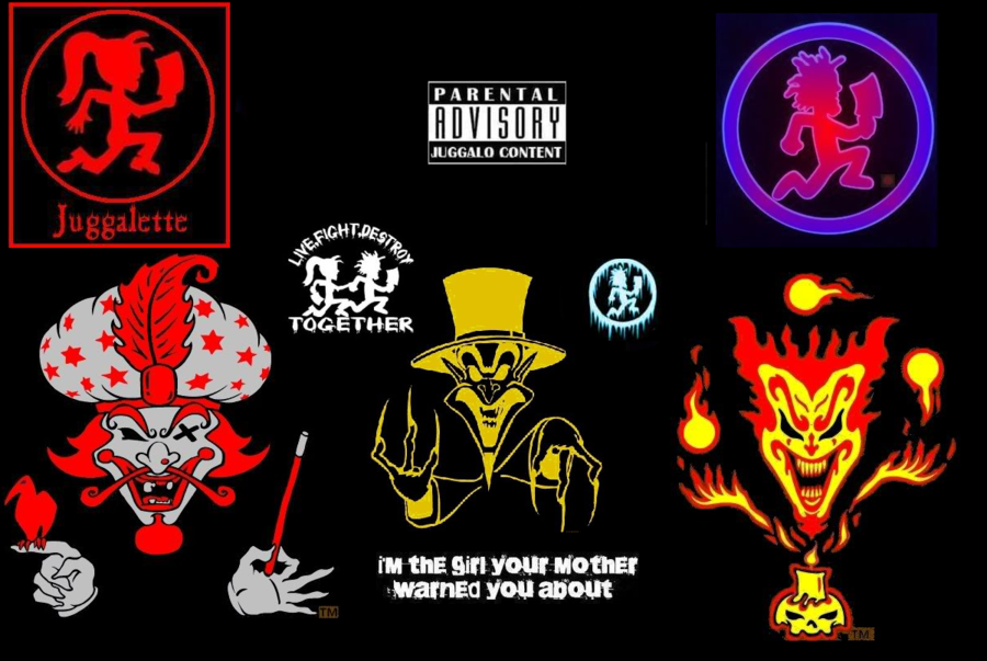 Juggalo Tattoo Designs On A Black Background