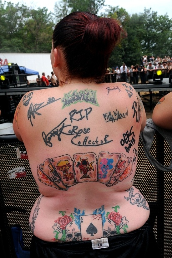 Juggalo Tattoo On Back For Women