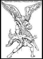 Justice Angel Beat Devil Tattoo Design