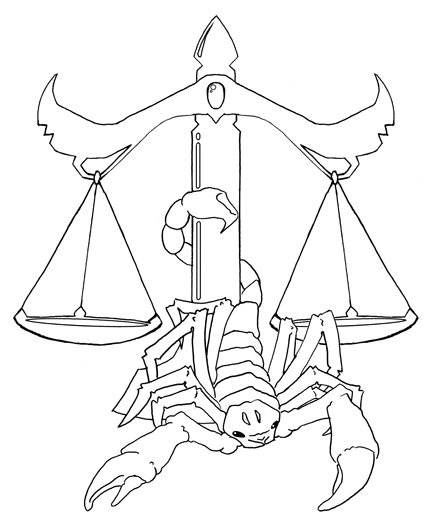 Justice Scale And Scorpion Tattoo Sample