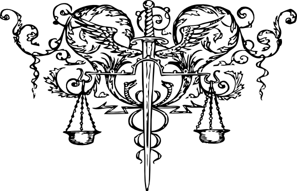 Justice Scale n Sword Tattoo Design