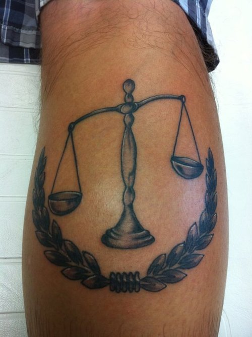Justice Scales Tattoo On Back Justice Symbol Tattoos