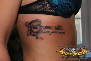 Key To My Heart Tattoo For Girls