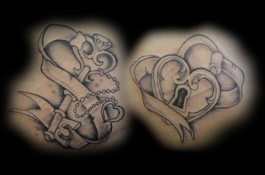 Key To My Heart Tattoo Image