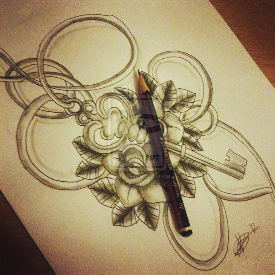 Key To Your Heart Pencil Sketch