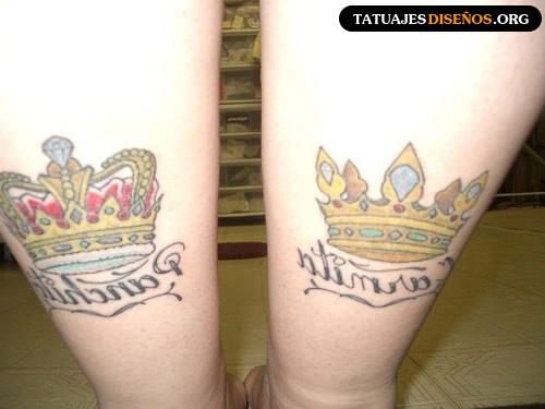 King n Queen Crown Tattoo Design