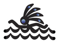 Kokopelli Swimmer Tattoo Design