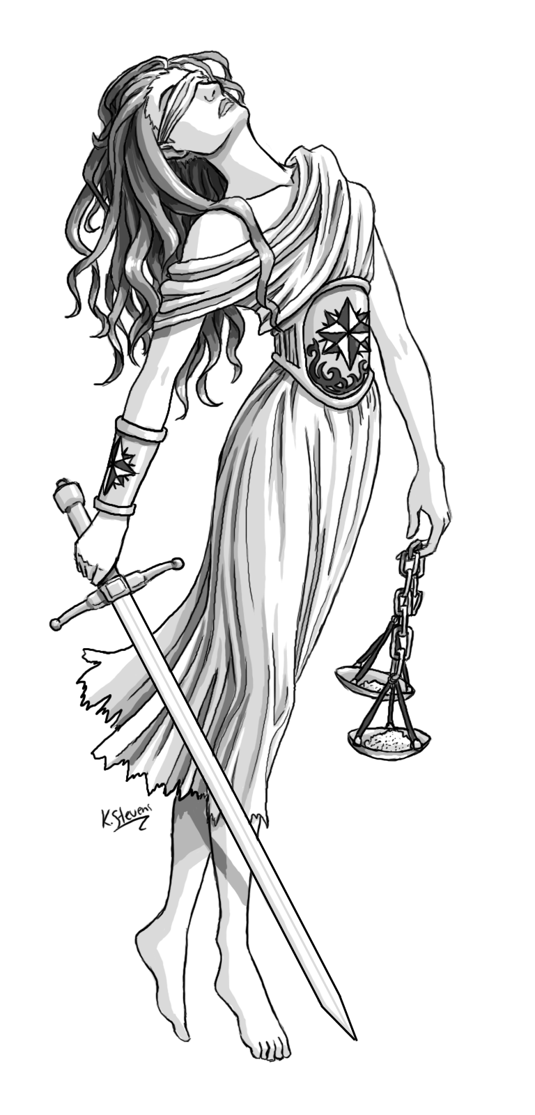Lady Justice Tattoo Sample