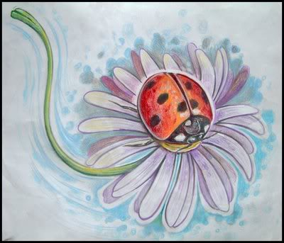 Ladybug Flower Tattoo Picture