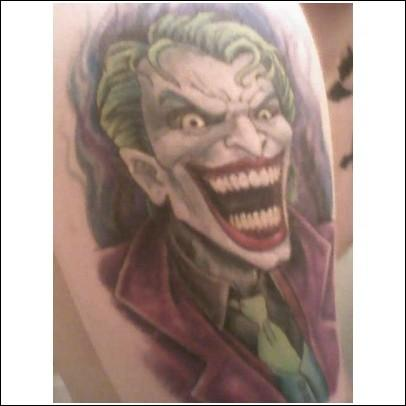 Laughing Joker Tattoo Design