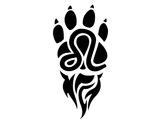 Leo Paw Print Tattoo Design
