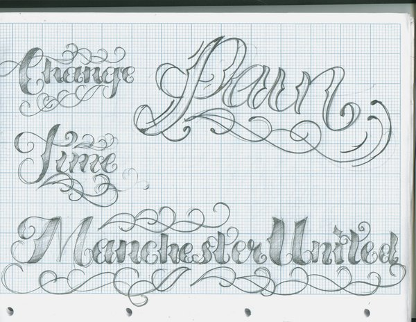Lettering Fonts Tattoo Designs