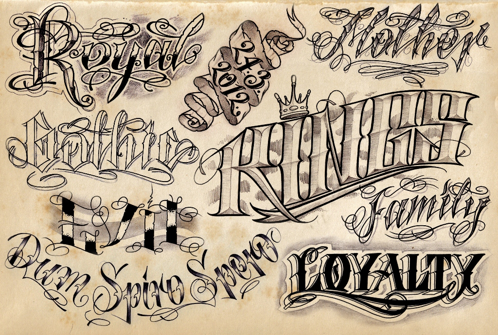 Lettering Tattoos, Designs And Ideas : Page 8