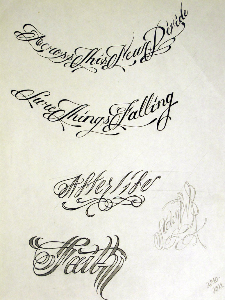 Lettering Tattoo Styles