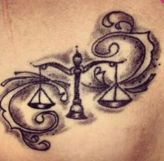 Libra Tattoo Design