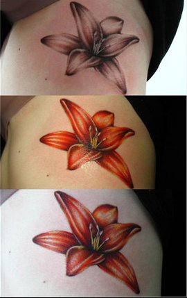 Lily Step by Step Tattoo Design