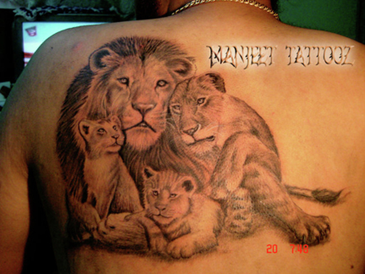 Lion Family Tattoo Pic...